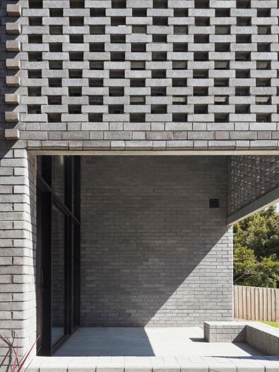 deep entrance threshold The Cuboid House by LLDS Architects