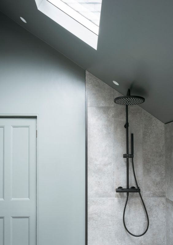 bathroom skylight A Material Driven Overhaul to a Victorian End Of Terrace by NOTO
