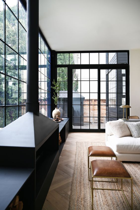 wall to wall windows A Tired Bungalow Transformed Into a 2 Storey Family Dwelling by Ancerl Studio